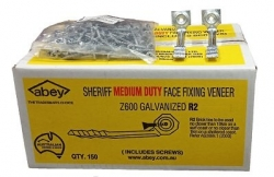 SHERIFF FACE FIXING GALV M/DTY (SCREWS