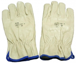 GLOVE BEIGE RIGGER (large) (12) Unlined