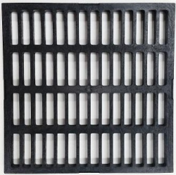 GRATE ONLY 300MM PLASTIC BLACK