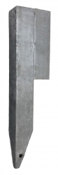 STEEL CORNER L50x400 R/H GALV