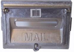 9X6 1/2 LETTERBOX ALUM. COMB.FRONT OPEN