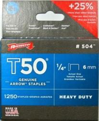 ARROW T50 STAPLES 1/4 6mm (1250pk)