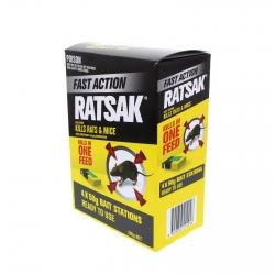 **RATSAK FAST ACTION BAIT STATIONS 4x50G