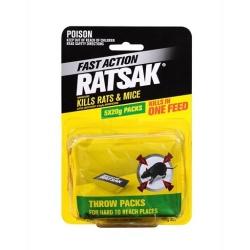 RATSAK FAST ACTION THROW PACKS 5X20 100g